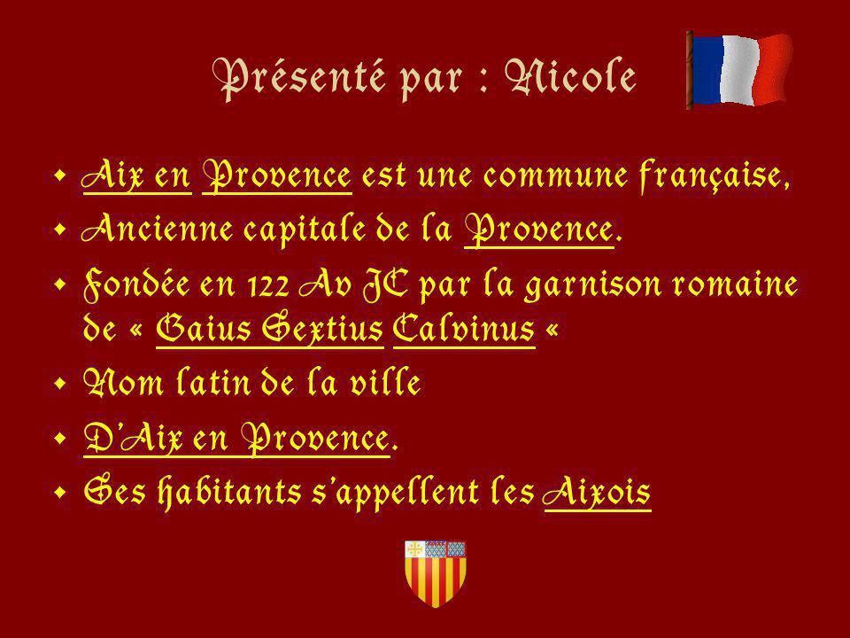 Le célèbre cours Mirabeau Aix en Provence