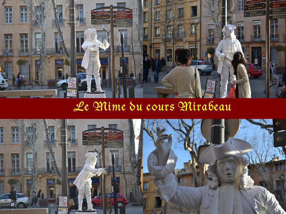 La fontaine sur le cour Mirabeau