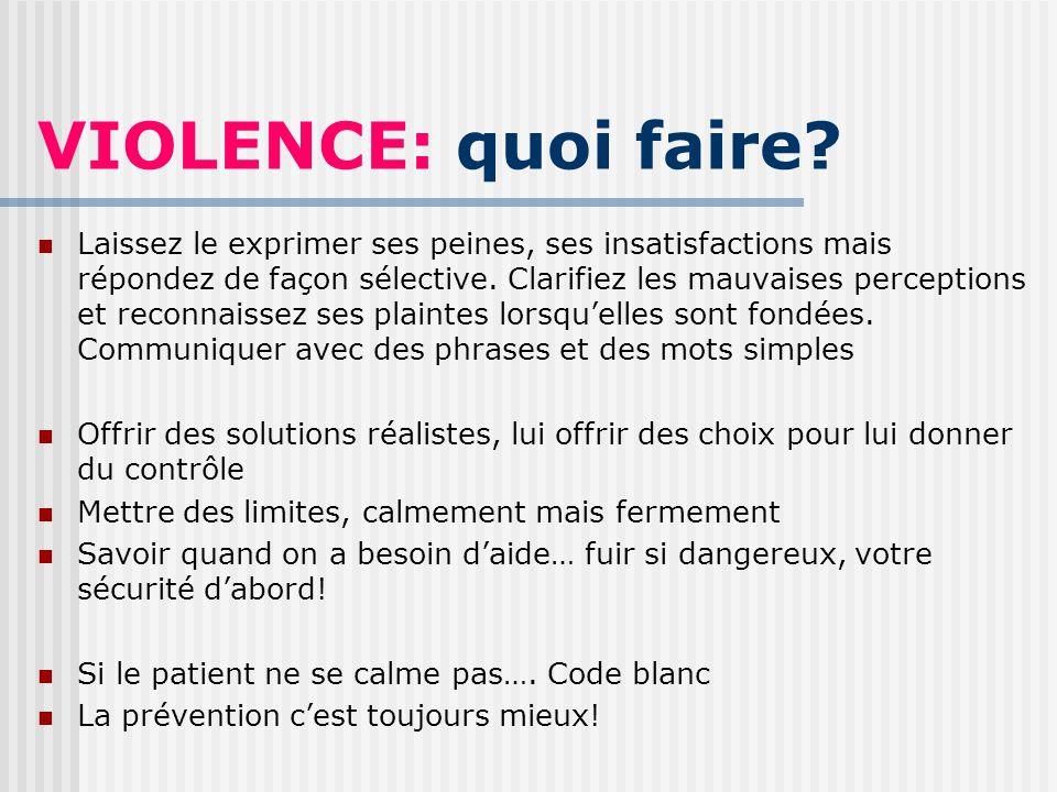 VIOLENCE: quoi faire.