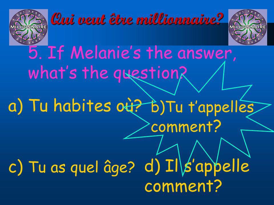Qui veut être millionnaire.5. Whats missing. David et Alison.…canadiens.