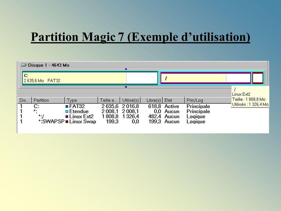 Partition Magic 7 (Exemple dutilisation)