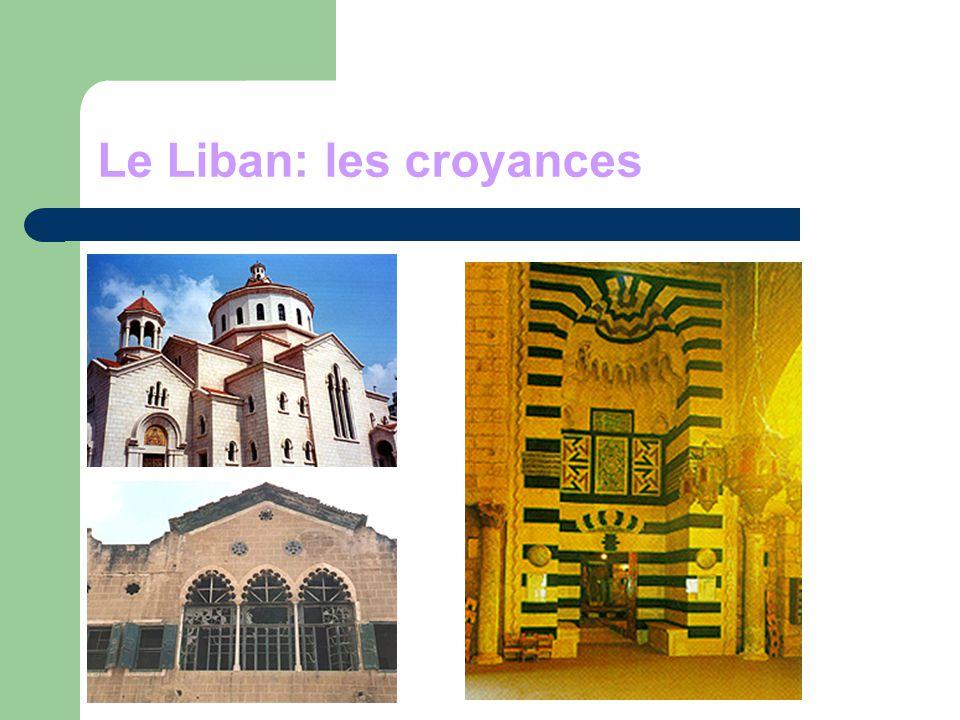Le Liban: les croyances