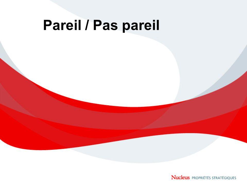 Pareil / Pas pareil