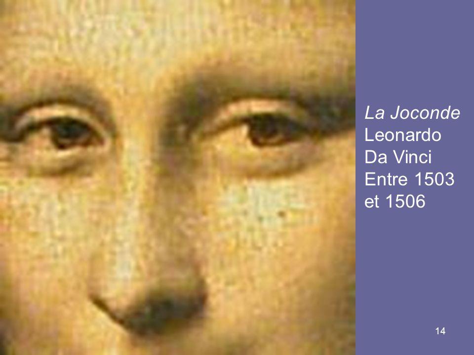 14 La Joconde Leonardo Da Vinci Entre 1503 et 1506