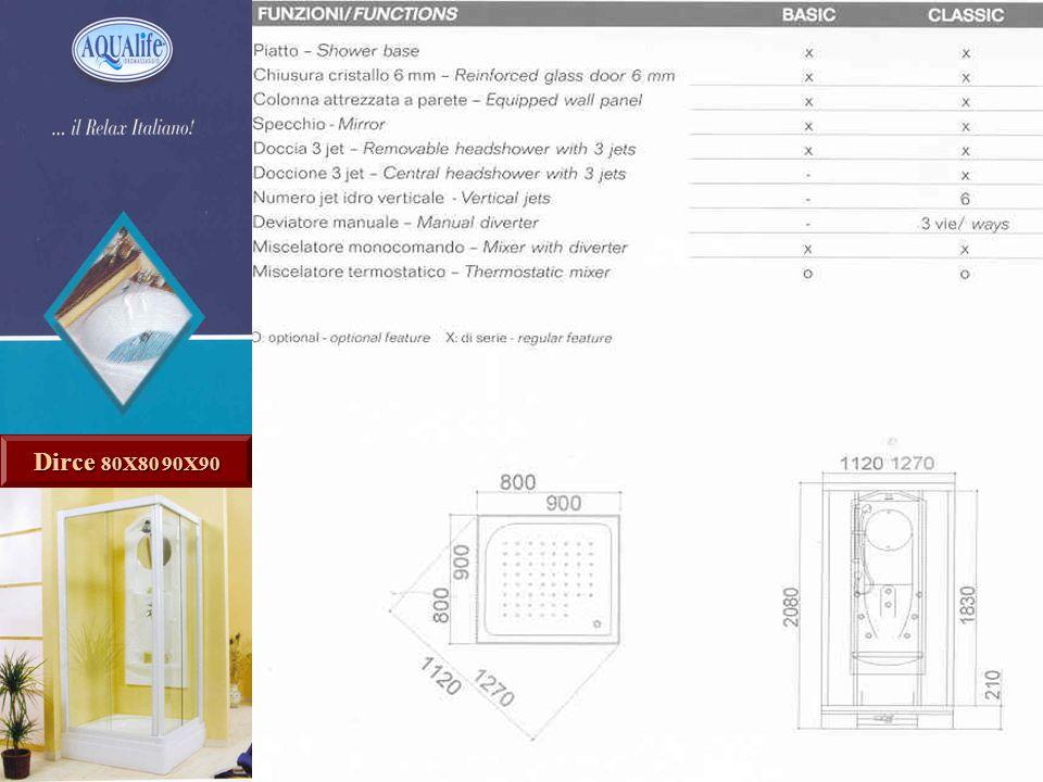 Dirce - Caractéristiques Dirce 80X80 90X90