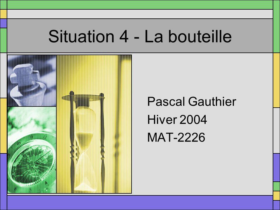 Situation 4 - La bouteille Pascal Gauthier Hiver 2004 MAT-2226