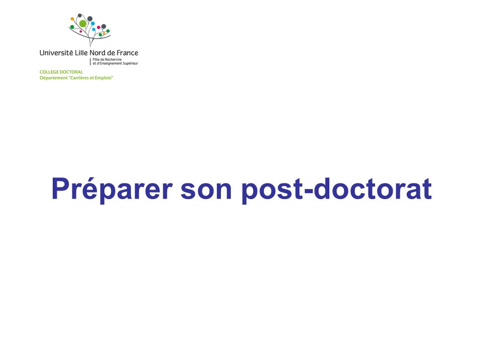 Préparer son post-doctorat