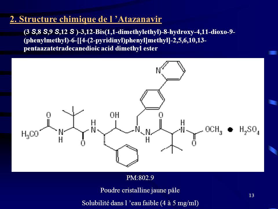 13 (3 S,8 S,9 S,12 S )-3,12-Bis(1,1-dimethylethyl)-8-hydroxy-4,11-dioxo-9- (phenylmethyl)-6-[[4-(2-pyridinyl)phenyl]methyl]-2,5,6,10,13- pentaazatetradecanedioic acid dimethyl ester 2.