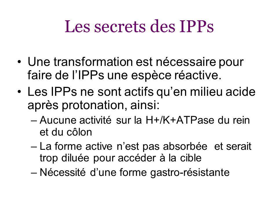 Les secrets des IPPs Une transformation est nécessaire pour faire de lIPPs une espèce réactive.