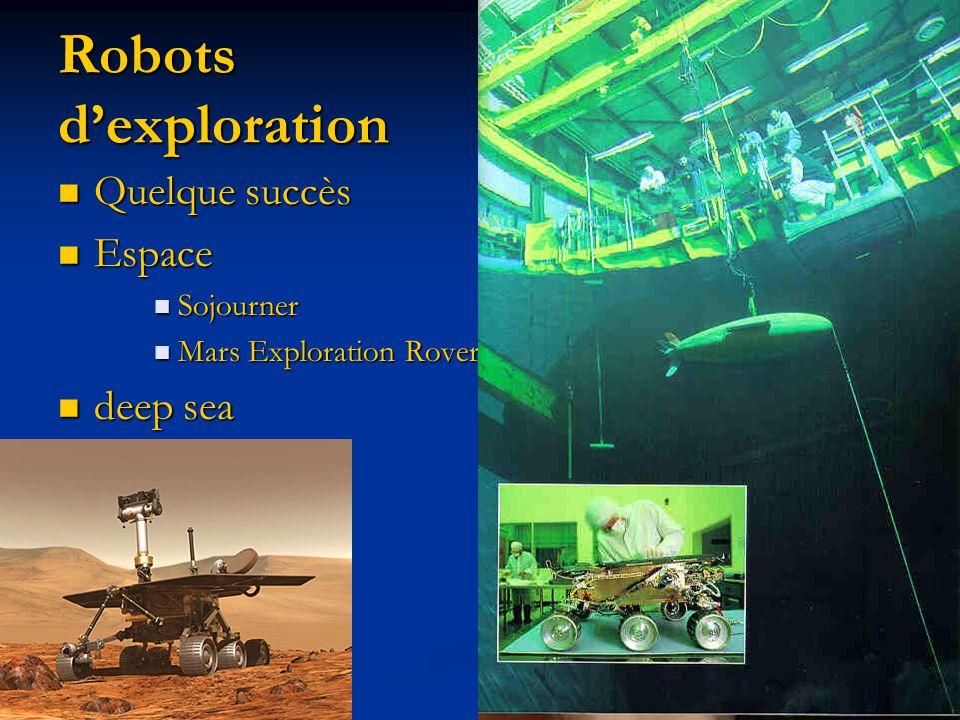 Quelque succès Quelque succès Espace Espace Sojourner Sojourner Mars Exploration Rovers Mars Exploration Rovers deep sea deep sea Robots dexploration