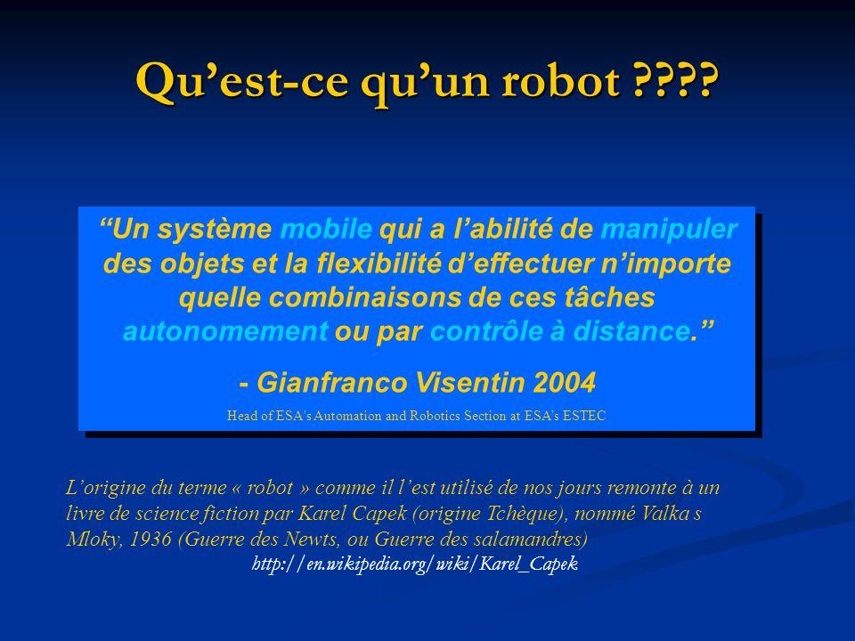 Sommaire Quest-ce quun robot.Quest-ce quun robot.