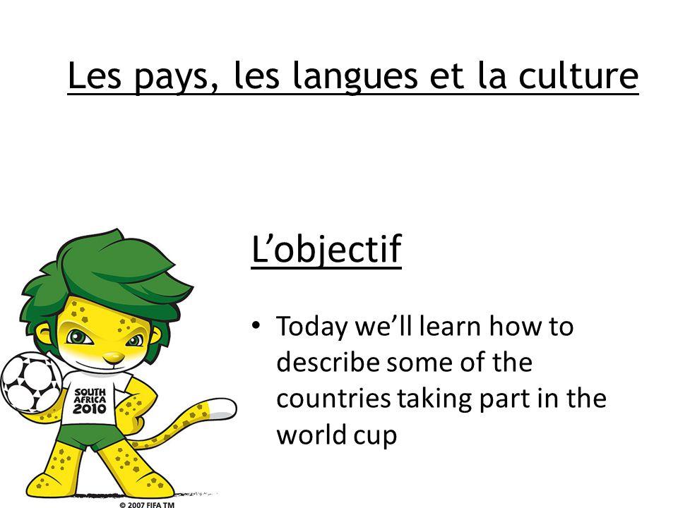 La coupe du monde Afrique du Sud, 2010 Leçon 2