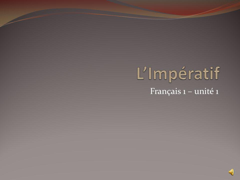 Français 1 – unité 1