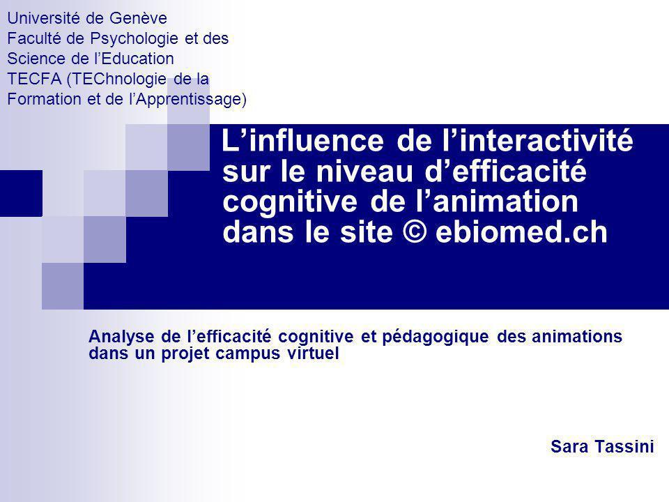 Université de Genève Faculté de Psychologie et des Science de lEducation TECFA (TEChnologie de la Formation et de lApprentissage) Linfluence de linter