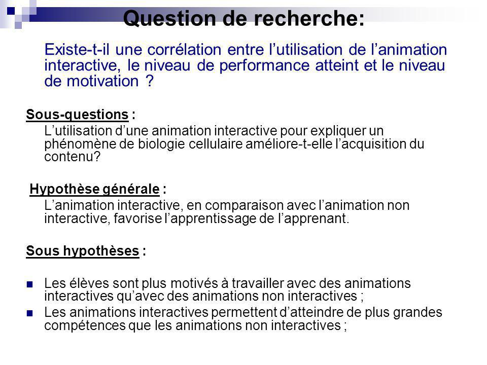 METHODE DE RECHERCHE : Le public cible : Une classe de 30/40 élèves du Gymnase Auguste Piccard, chemin de Bellerive 16 Lausanne, Ouchy.
