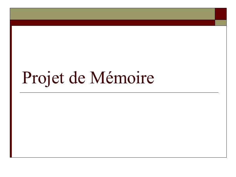 Projet de Mémoire