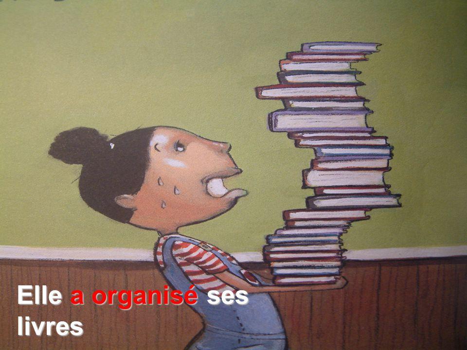 Elle a organisé ses livres