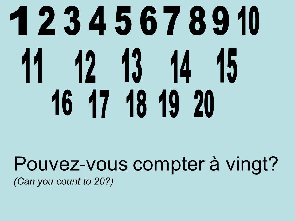 Pouvez-vous compter à vingt (Can you count to 20 )