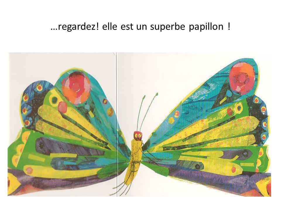 …regardez! elle est un superbe papillon !