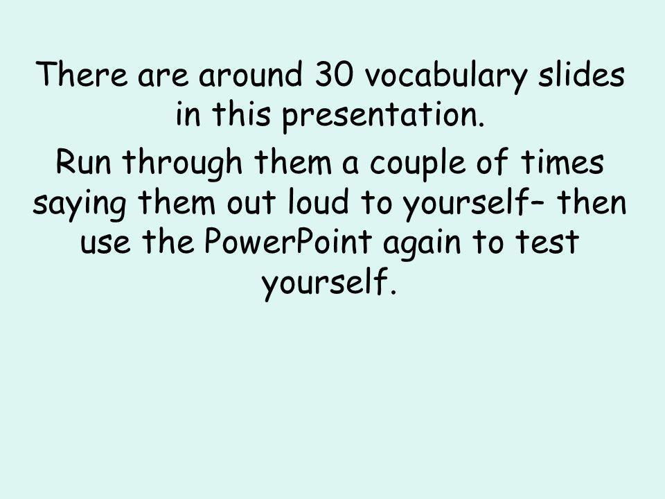 GCSE French Vocabulary Foundation Tier Listening 2007 PPT3