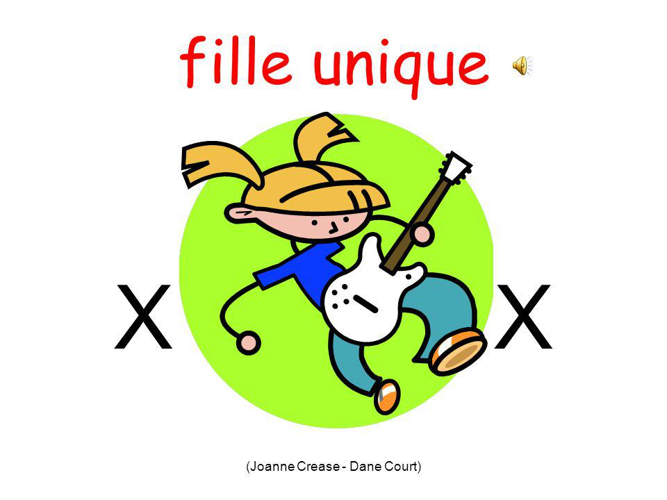 (Joanne Crease - Dane Court) fils unique X X