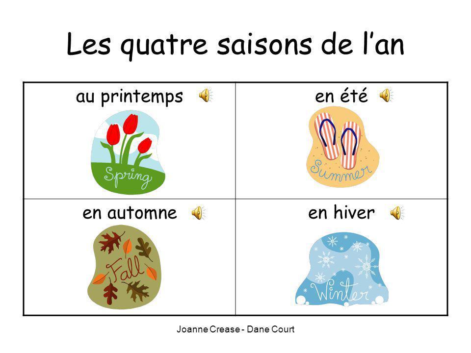 Joanne Crease - Dane Court Les quatre saisons de lan au printempsen été en automneen hiver