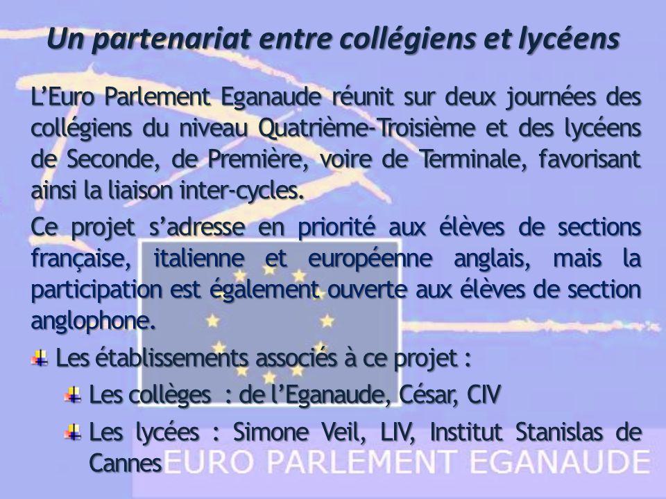 Les institutions de lEPE Les institutions parlementaires européennes ont été simplifiées Chaque élève participant représente un pays de lUnion mais également un parti politique européen.