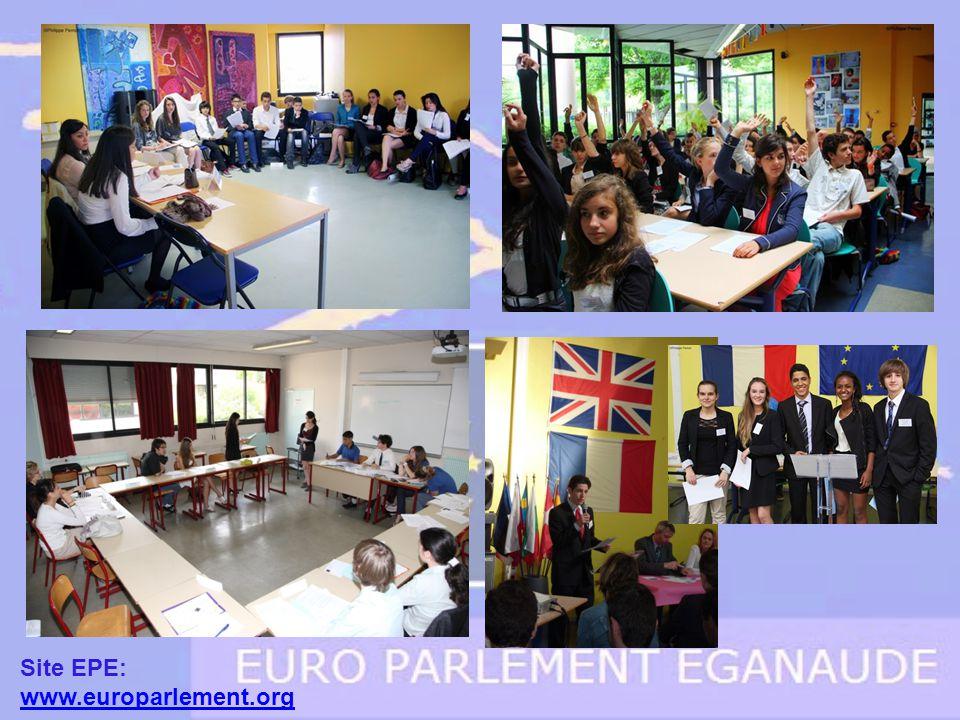 Chaque élève est membre dune commission parlementaire dans laquelle il prépare une directive ou un règlement sur un des 3 thèmes proposés.