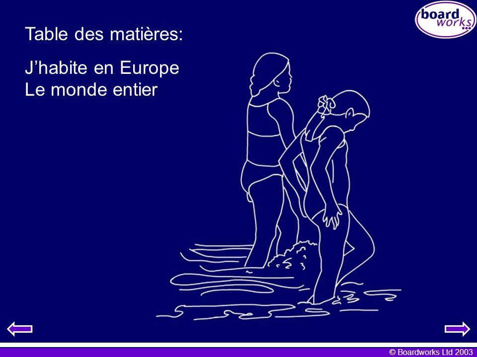 © Boardworks Ltd 2003 Jhabite en Europe