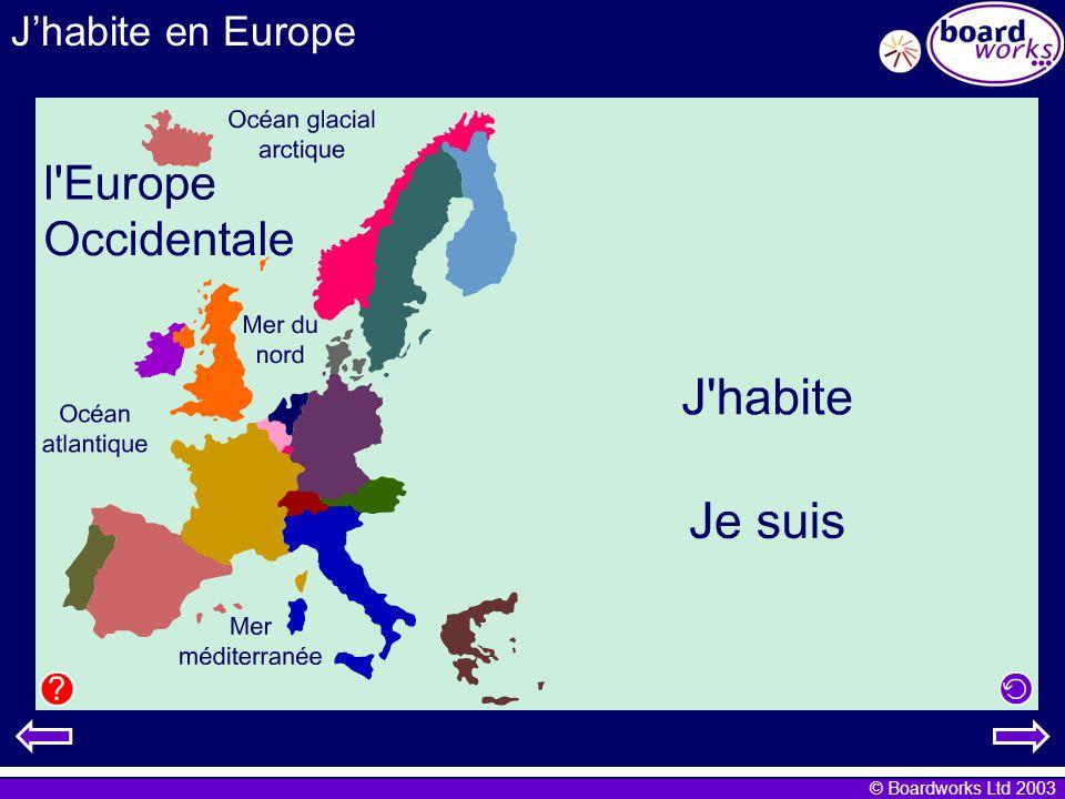 © Boardworks Ltd 2003 Jhabite en Europe 5 euros Leuro: les billets 10 euros 20 euros 50 euros 100 euros 200 euros 500 euros
