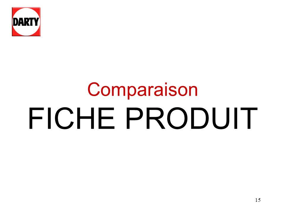 15 Comparaison FICHE PRODUIT