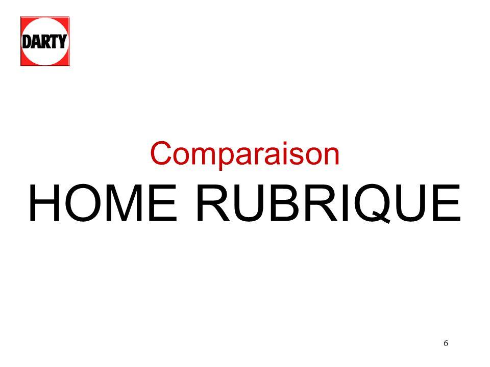 6 Comparaison HOME RUBRIQUE