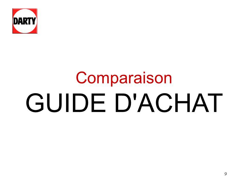 9 Comparaison GUIDE D'ACHAT