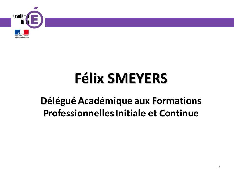 Félix SMEYERS DAF PIC Délégué Académique aux Formations Professionnelles Initiale et Continue 3