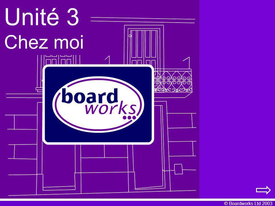 © Boardworks Ltd 2003 Jhabite un appartement au bord dune rivière.CJhabite une belle maison en ville.