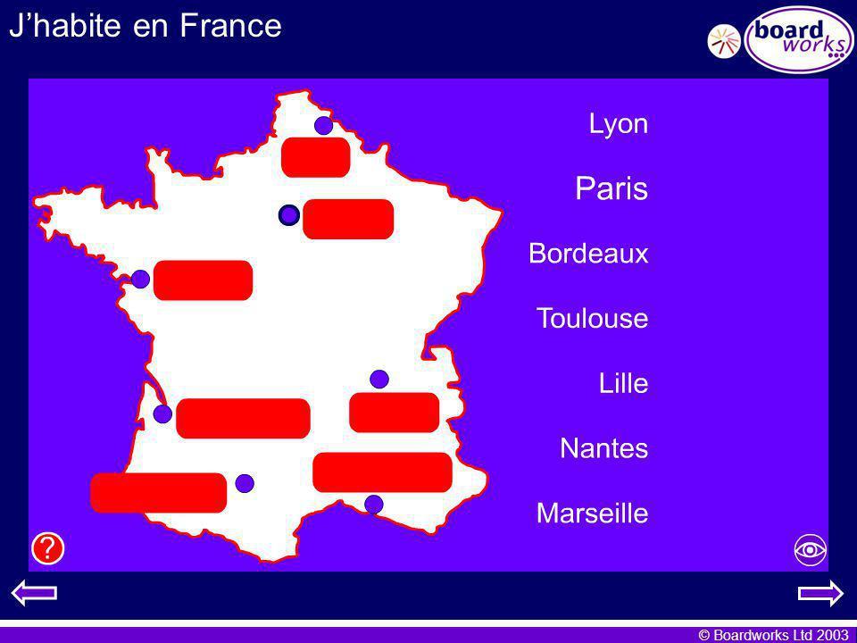 © Boardworks Ltd 2003 Jhabite en France Cest quelle image.