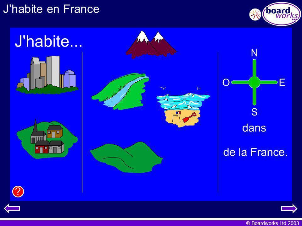© Boardworks Ltd 2003 Jhabite en France Je mappelle Katie.