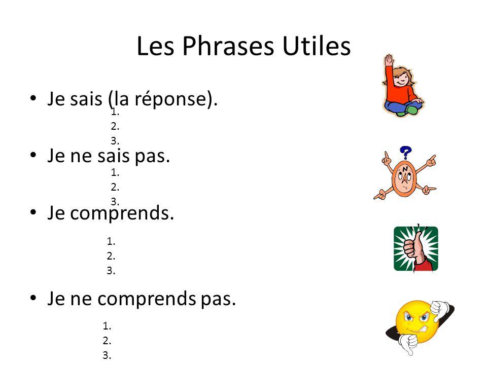 Les Phrases Utiles Jai une question.Jai une question … en anglais s.v.p..