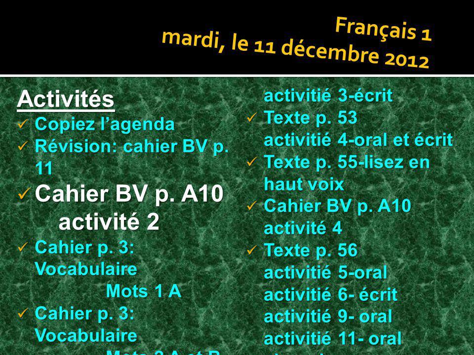 Cahier BV p. A10 activité 2
