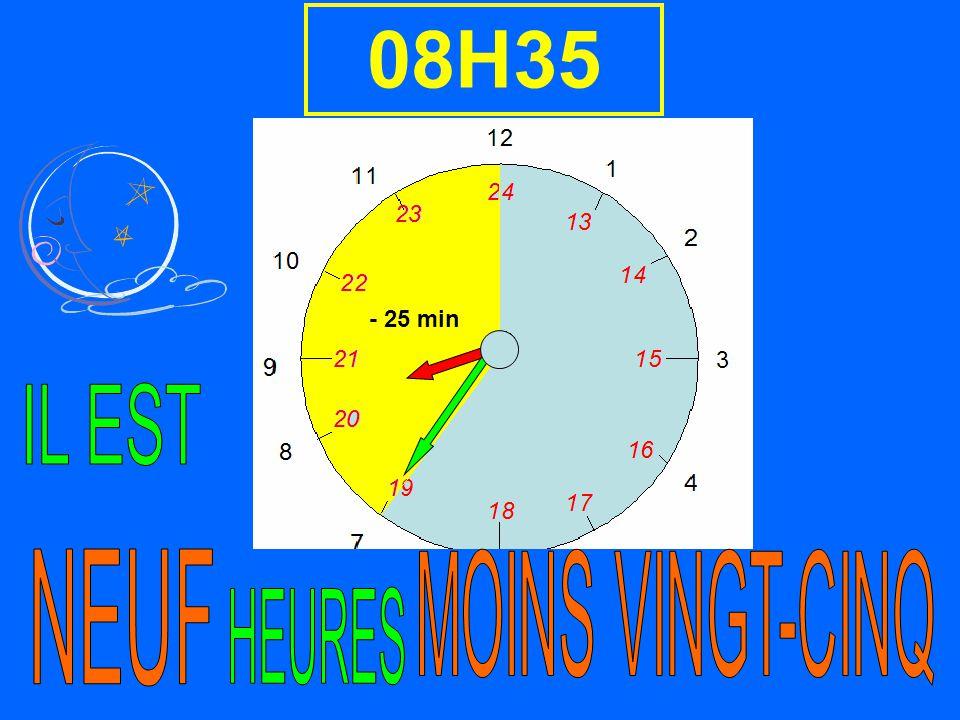 - 25 min 08H35