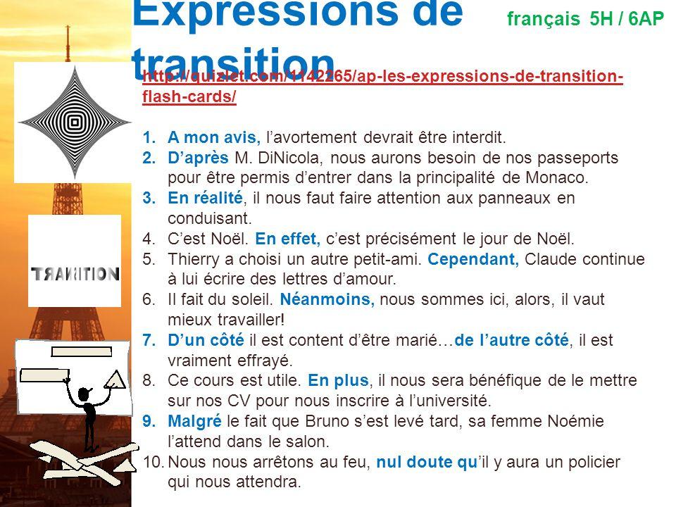 La composition persuasive français 5H / 6AP 1.Sur lexamen AP de langue et culture 2012, vous aurez six minutes pour lire toutes les ressources disponi