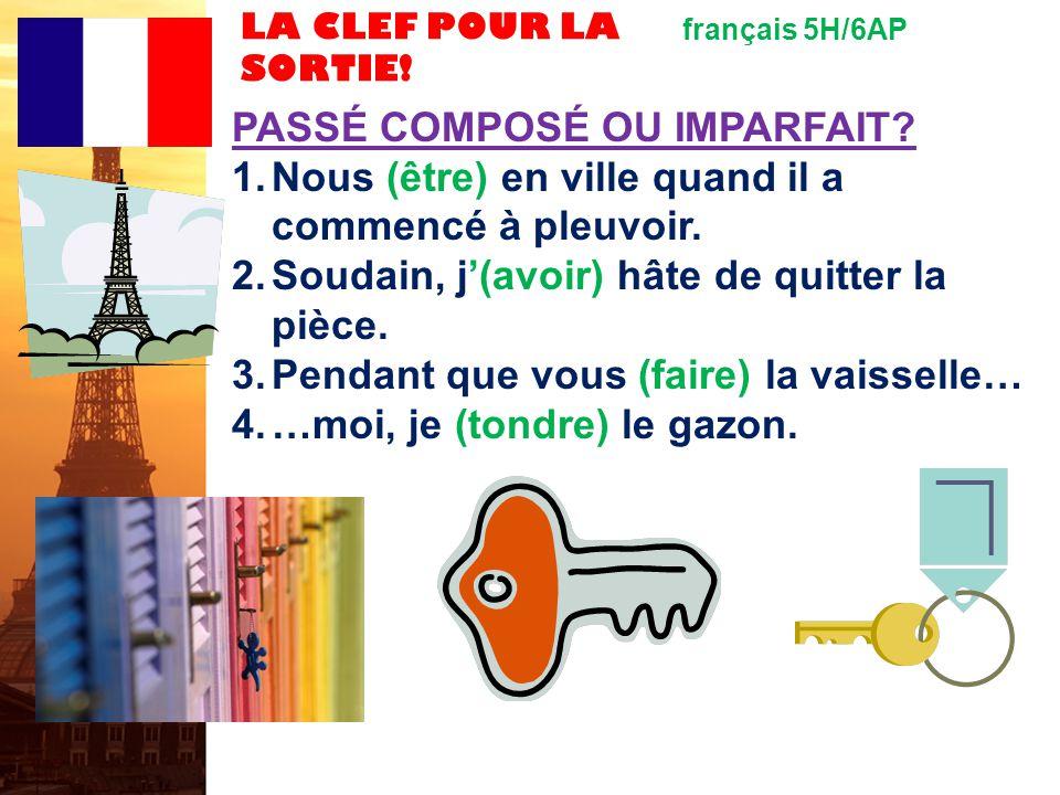 français 6AP le 15-16 décembre 2011 ActivitéClasseur CHANTONS ! I. Le passé simple : 1. JEU : La feuille D-E 2. « Le coq glouton » par Robert Giraud A