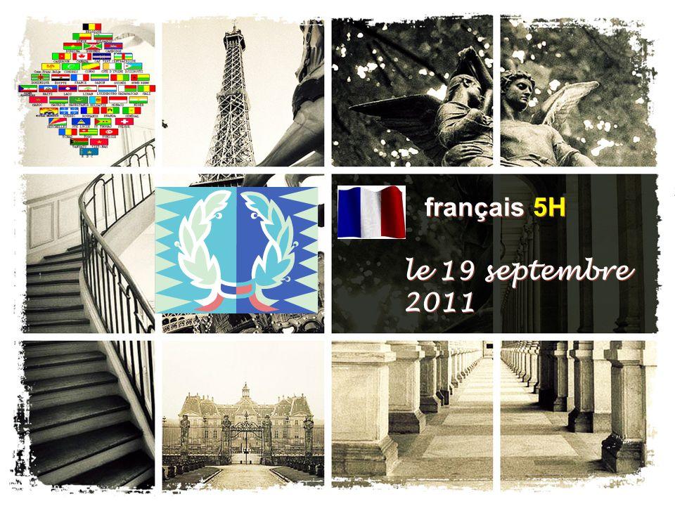 français 5H le 19 septembre 2011