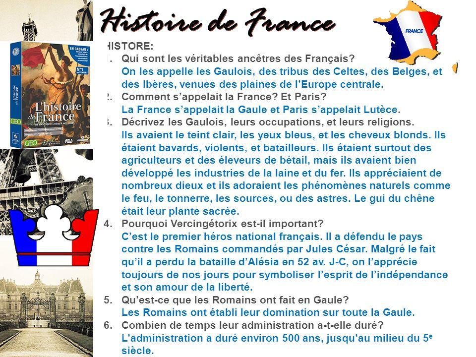 Histoire de France HISTORE: 1.Qui sont les véritables ancêtres des Français.