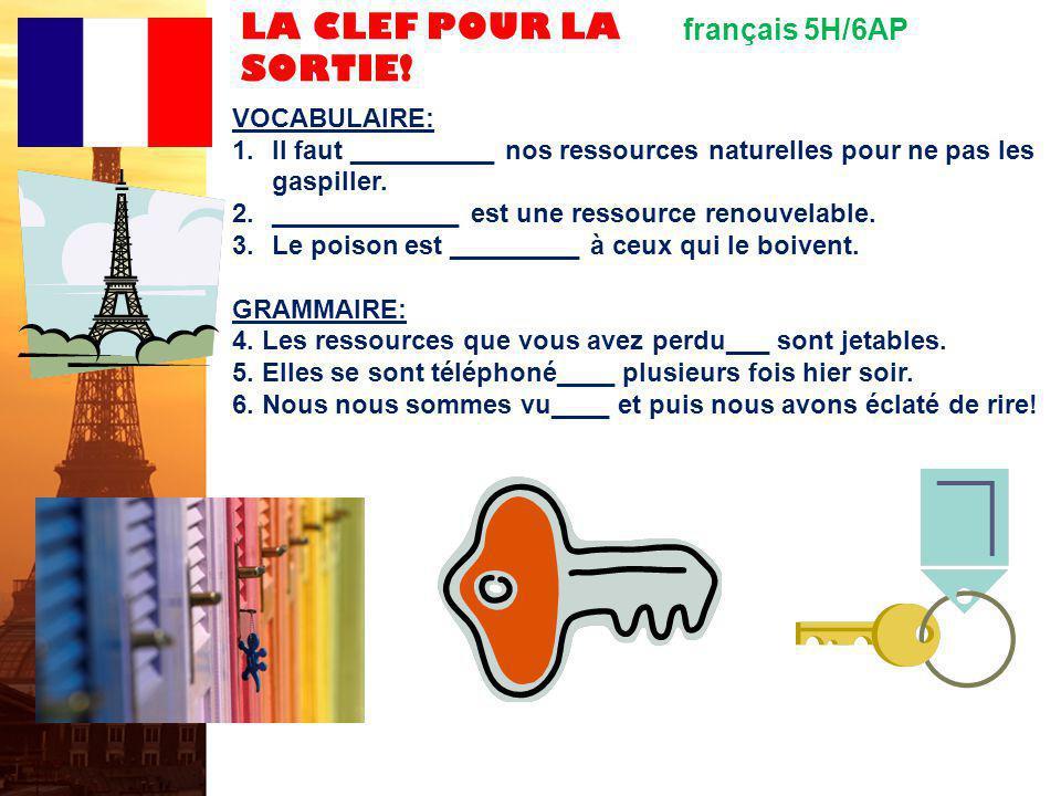 français 5H / 6AP Questions Au revoir, les enfants 27.