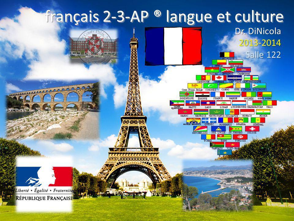 Des annonces à noter.A.Le club français.