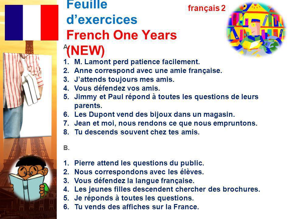 français 2 le 28-29 octobre 2013 ActivitéClasseur I.