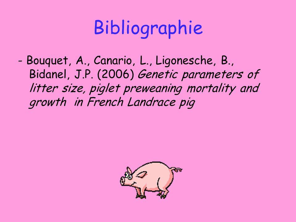 Bibliographie - Bouquet, A., Canario, L., Ligonesche, B., Bidanel, J.P.