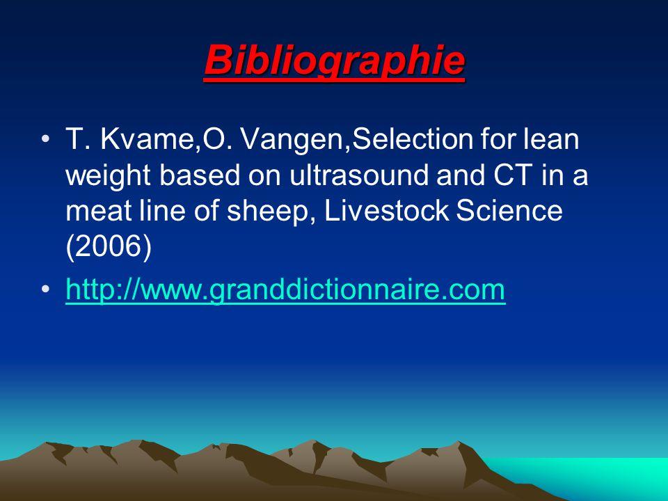 Bibliographie T.Kvame,O.