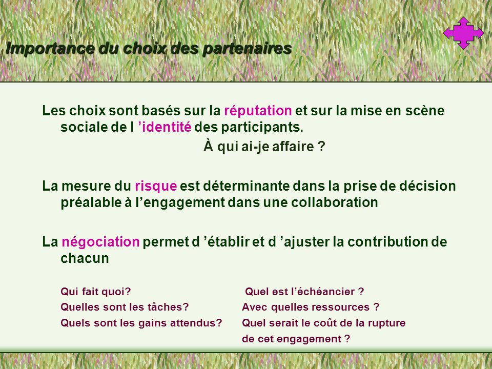 Compétition et collaboration .
